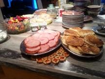 Jambon, pancakes