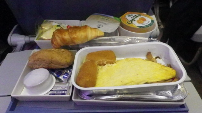 Breakfast on Saudi Airlines
