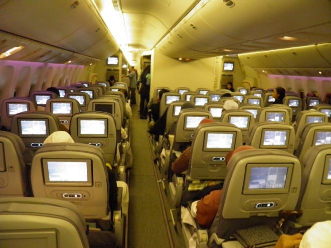 interieur avion saudi airlines