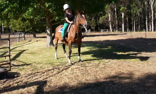 Pauline sur un cheval