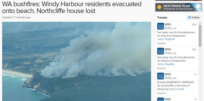 Northcliffe bushfire