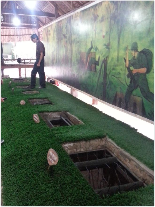 Vietnam War Cu Chi Tunnels
