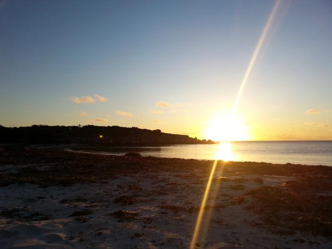coucher de soleil australien