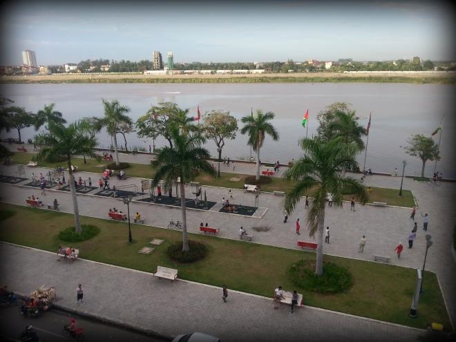 vue du rooftop Phnom Penh