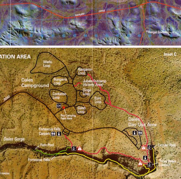 Karijini trail map
